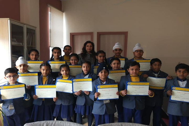 Guru Nanak Foundation Global School-Certificate Issue In Arts Compitetion