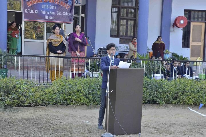 Guru Teg Bahadur Khalsa Public School-Speech