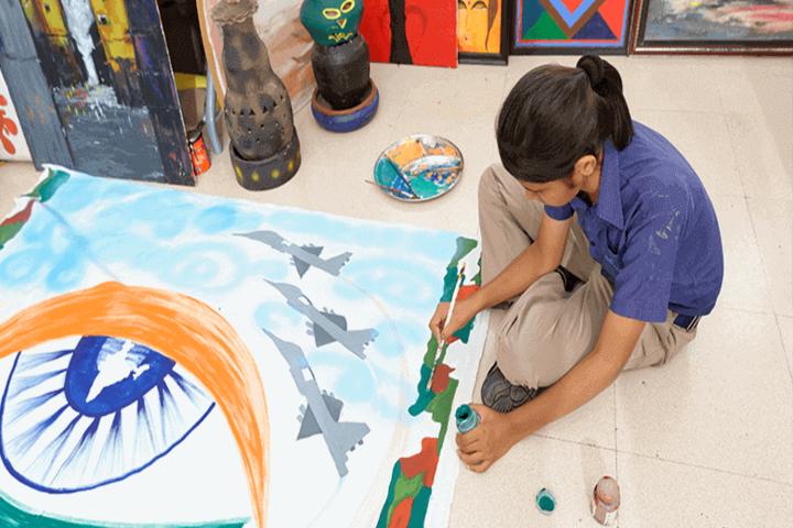 Indus World School-Rangoli Event