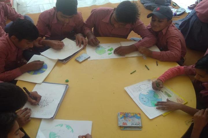 J N International School-Poster Making Competition