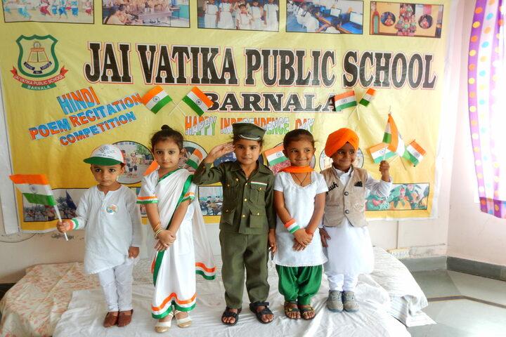 Jai Vatika Public School-Independence Day