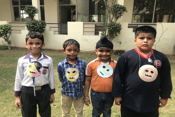 K D International School-Face Painting Activity