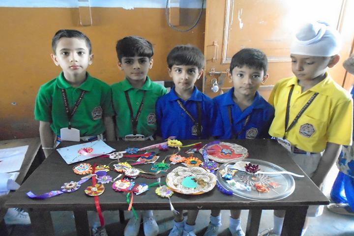 Malvi Devi Dayanand model School-Rakhi Making