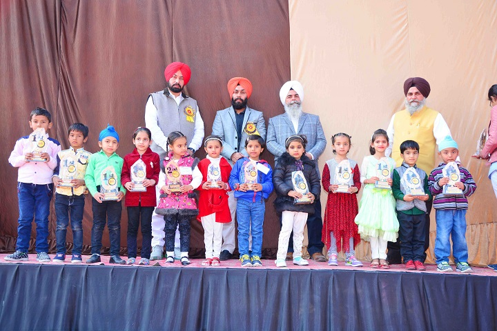 Mata Sahib Kaur Public School-Kids with Trophies