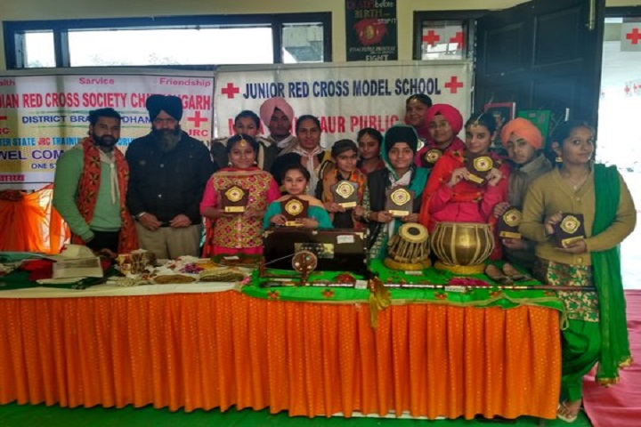 Mata Sahib Kaur Public School-Students with Trophies