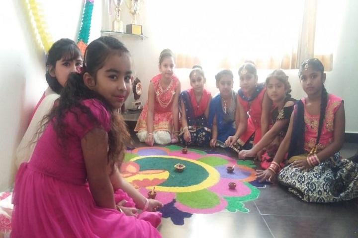 Merry Land International Public School-Rangoli