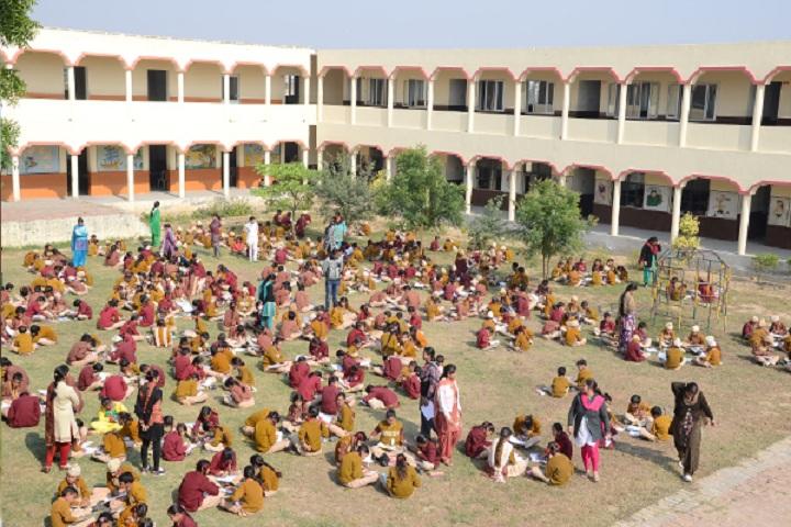 Modern Secular Public School-Campus-View with playground