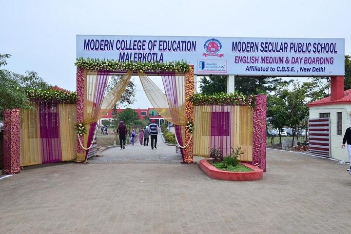 Modern Secular Public School-Campus Front View