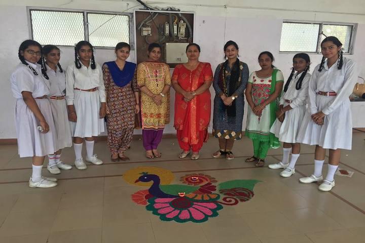 Modern Secular Public School-Rangoli