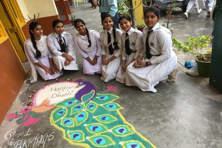 Netaji Model School-Rangoli Competition