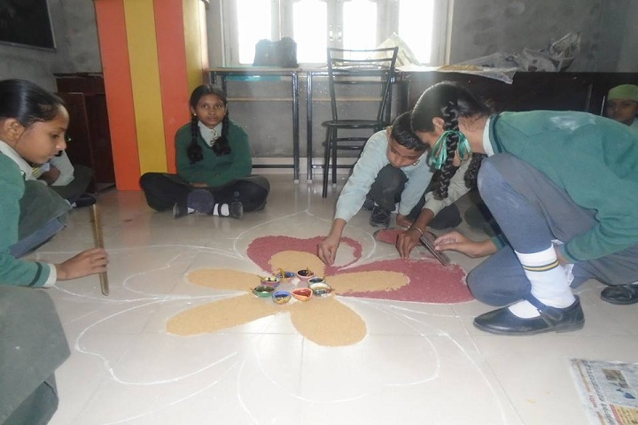Punjab Convent School-Rangoli
