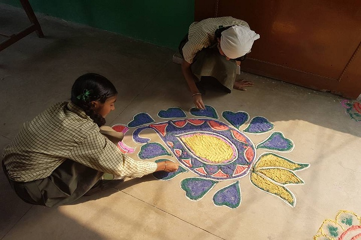 Punjab Public Senior Secondary School-Rangoli Compitition