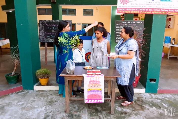 S D Model Senior Secondary School-Birthday Celebrations