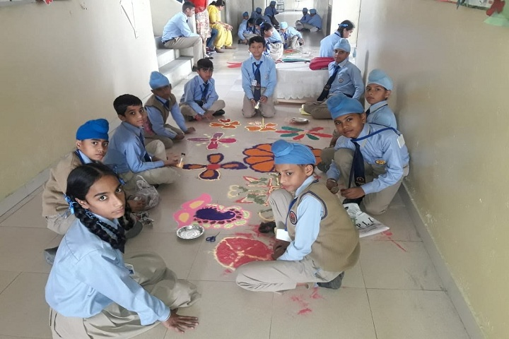 Saffron City School-Rangoli Compitition