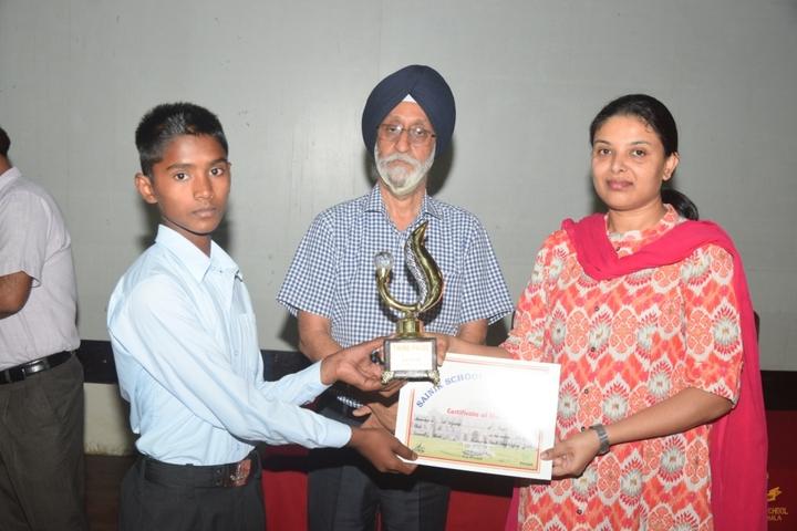 Sainik School-Prize Distribution