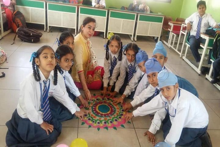 Sant Pranpal Singh Convent School-Rangoli