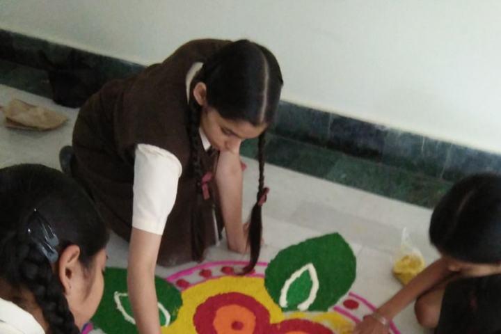 Shishu Niketan Public School-Rangoli Competition