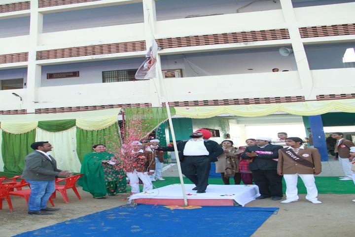 Shri Guru Angad Dev Public School-Flag Hosting