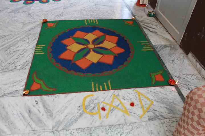 Shri Guru Angad Dev Public School-Rangoli