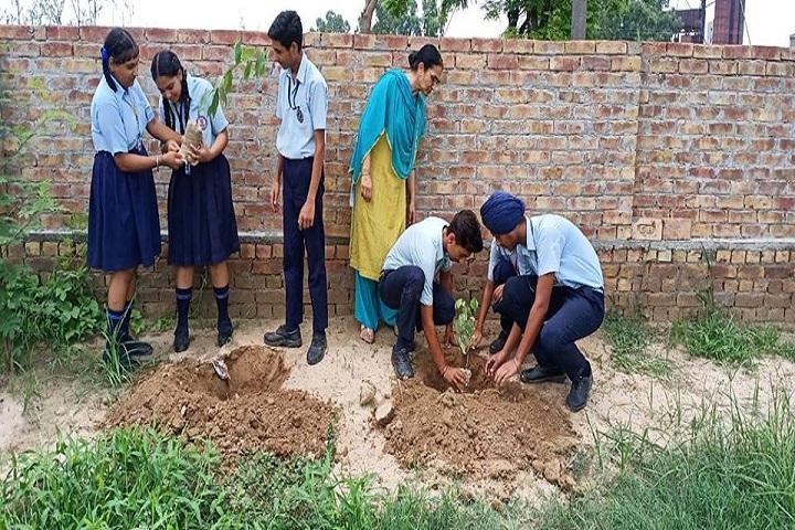 Shri Guru Nanak Dev Public School-Plant A Tree Program