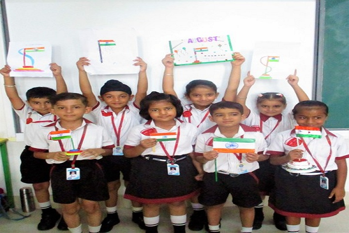 Singhal Stars School-Flag Making