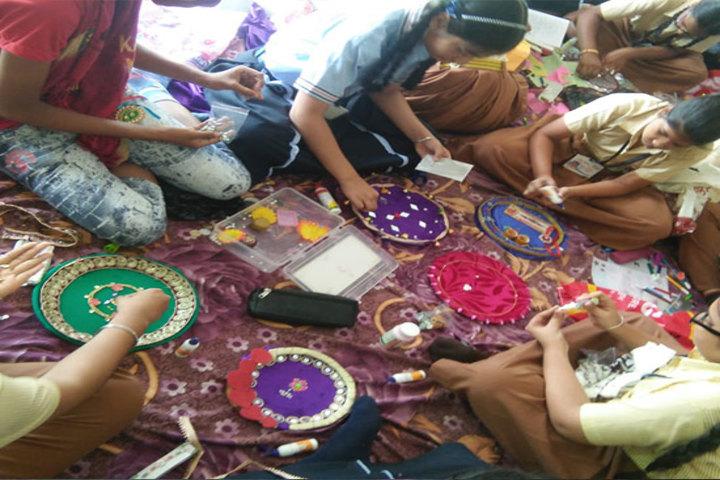 The Global E School-Rakhi Making Compitition