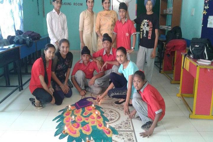 The Heritage School -Rangoli competitions