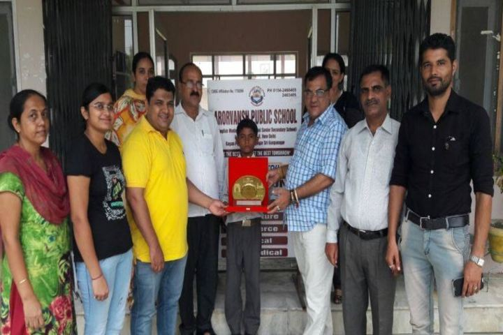 Arorvansh Public School-1st Position in All India Skating Competetion