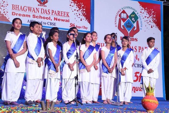 Bhagwan Das Pareek Dream School-Singing