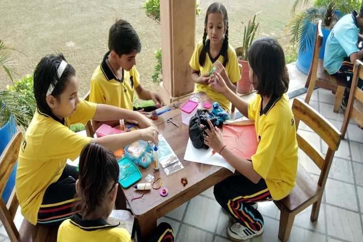 Global Indian International School-Rakhi Making