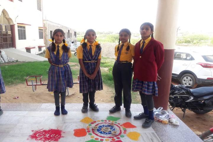 Global International School- Rangoli Competition