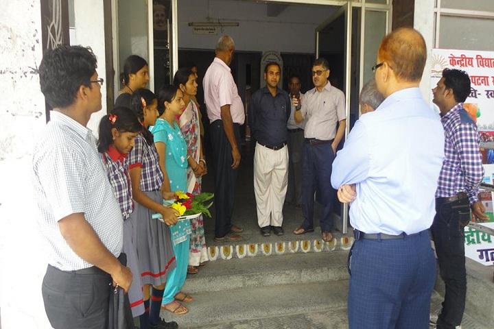 Kendriya Vidyalaya-Welcoming the chief guest