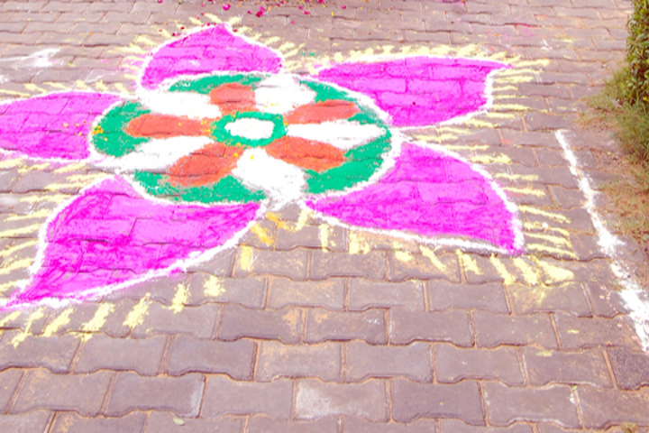 Ideal Public Senior Secondary School-Rangoli Competition
