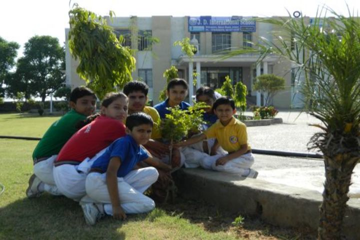J D International School-Tree Plantation