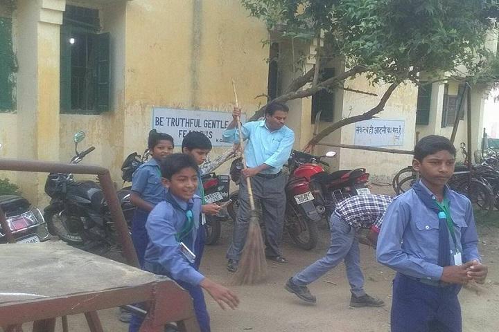 Kendriya Vidyalaya School-Cleaing the campus