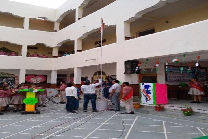 Lords International School-Flag Hoisting