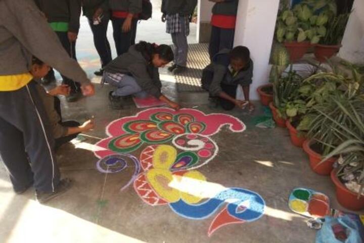 Kendriya Vidyalaya No 2- Rangoli competition