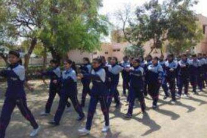 Mahila Ashram Public School-March Past