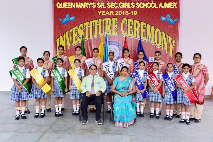 Queen Marys Girls School-Investiture Ceremony