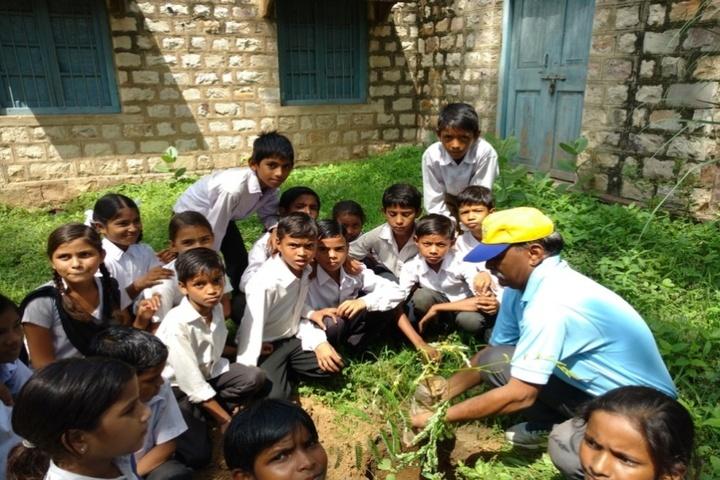 Railway Senior Secondary School-Plantation activity