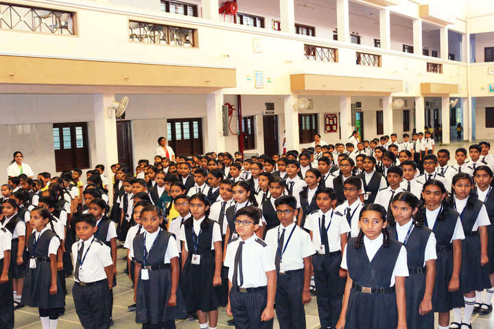 Rasiklal M Dhariwal Public School-Assembly