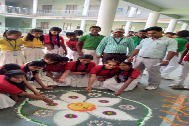 Laxmi Public School- Rangoli Competition