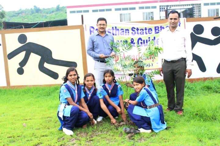 Sankalp Adademy Senior Secondary School-Plantation Activity