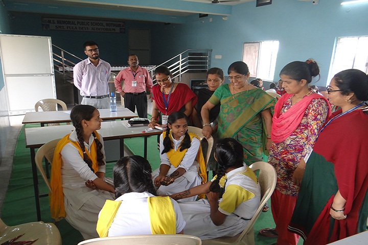 M S Memorial Public School- Mehendi Competition