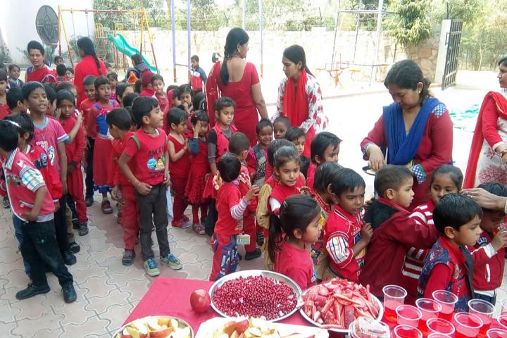 Sneh Public School-Red Colour Day