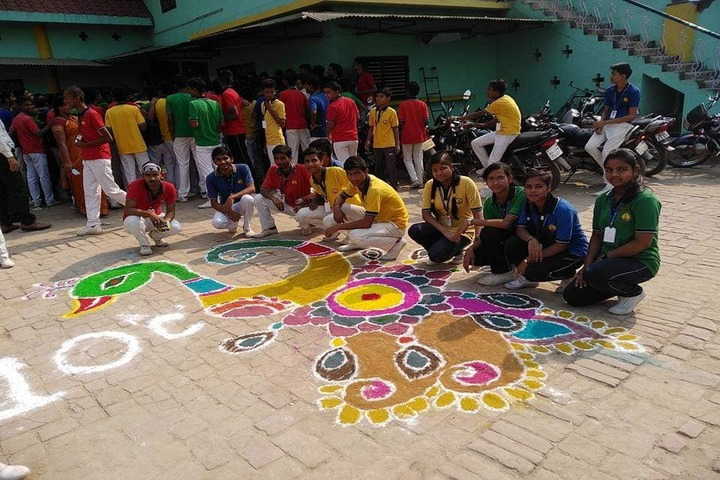 Maa Maitrayini Yogini Secondary School-Rangoli Celebrations