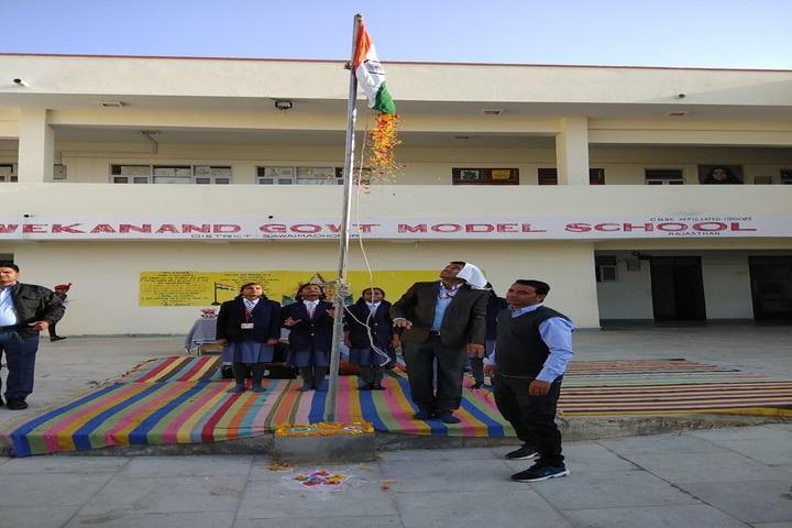 Swami Vivekanand Government Model School-Flag Hosting