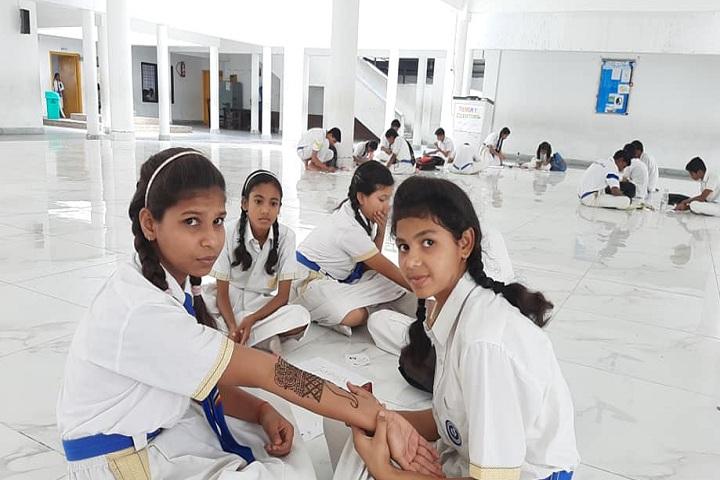 Manava Bharati Heritage School- Mehandi Competition