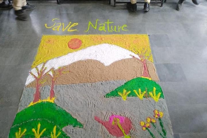 Manava Bharati Heritage School-Rangoli Competition