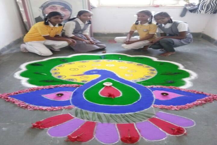 Swami Vivekanand Government Model School-Rangoli